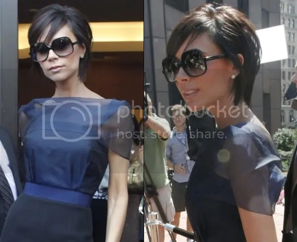 Victoria Beckham growing out her pixie crop
