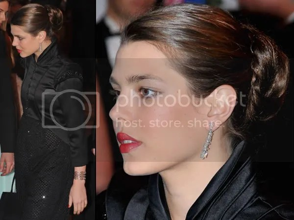 Charlotte Casiraghi in red lipstick