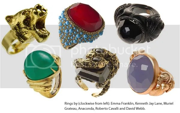 2008 jewelry trends - cocktail rings