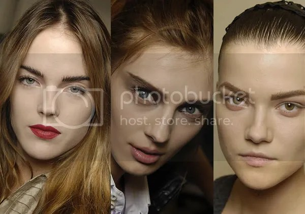 Thick, dark eyebrows trend