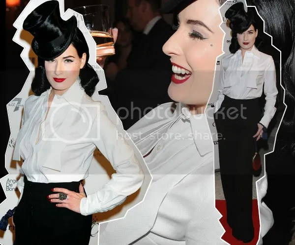 Dita Von Teese sexes up the Tuxedo Trend