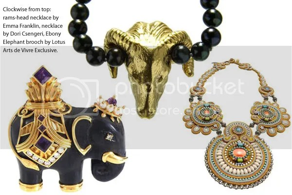 2008 jewellery trends - brooches and pendants