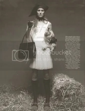 Vogue Paris, April 2009: Ymre by Patrick Demarchelier
