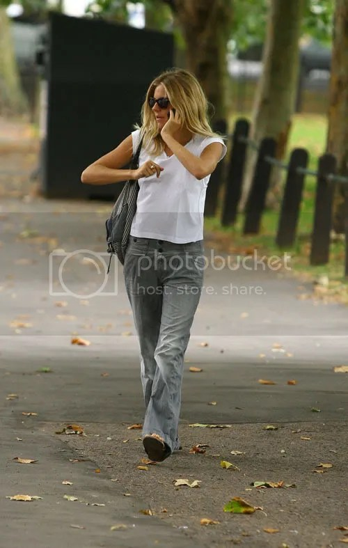 Sienna Miller wearing boyfriend pants in London