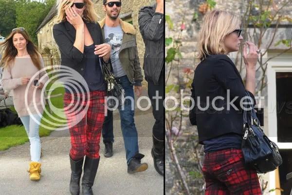 Kate Moss skinny pants tartan