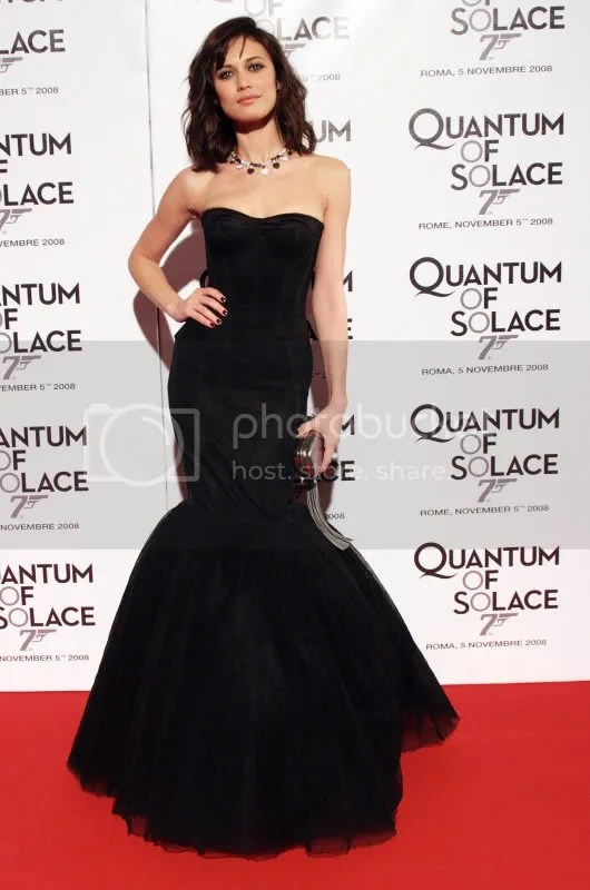 Olga Kurylenko at Quantum of Solace debute in Rome