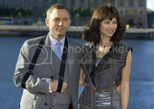 Daniel Craig and Olga Kurylenko in Stockholm