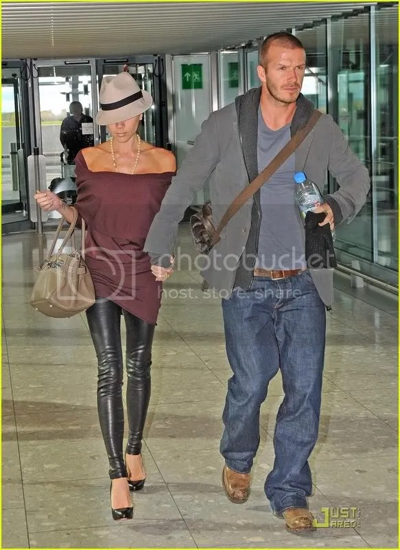 Victoria Beckham at Heathrow Airport