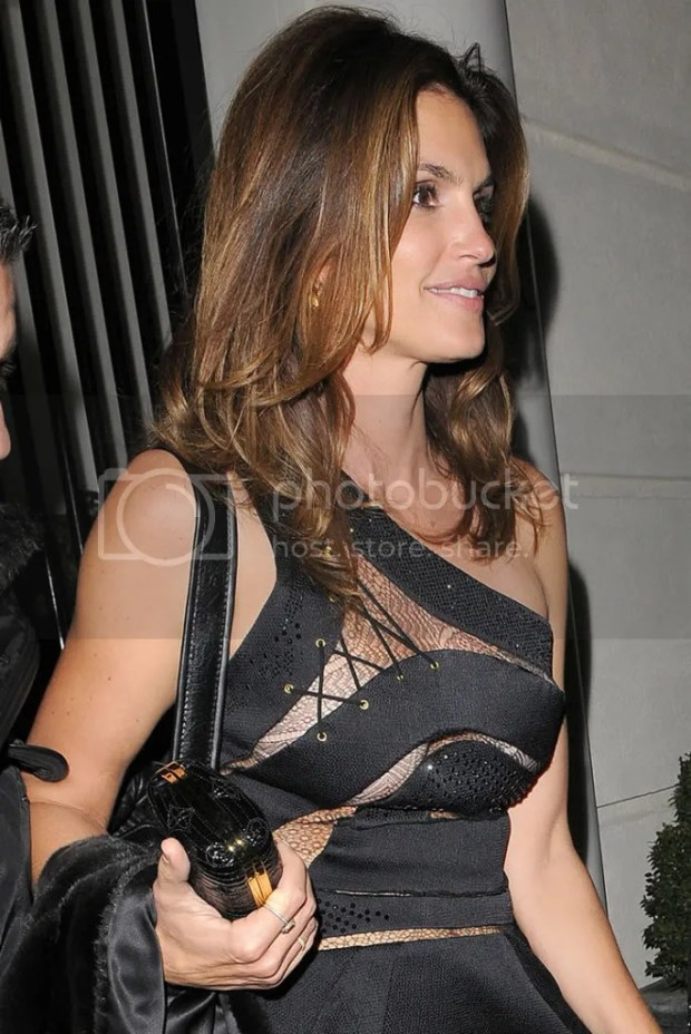 Cindy Crawford at George Clooney's house in London