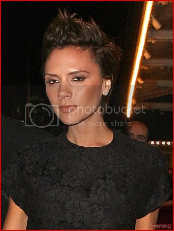 Victoria Beckham with spiked pixie crop