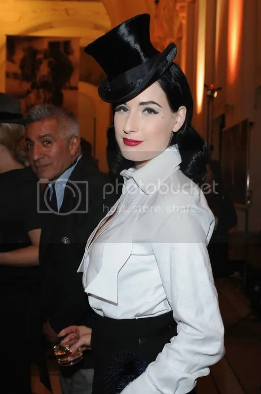 Dita von Teese at Patrick Dermachelier Exhibition