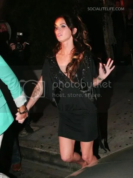 Megan Fox in black at Chateau Marmont, March 2009