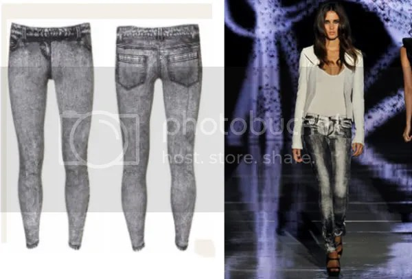 Jeggings / denim leggings trend