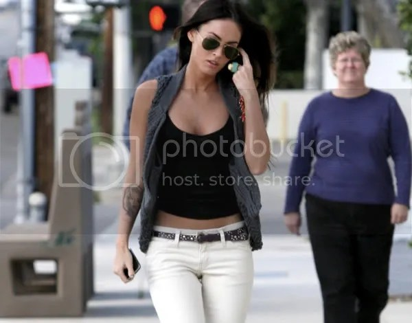 Megan Fox in the ripped denim trends
