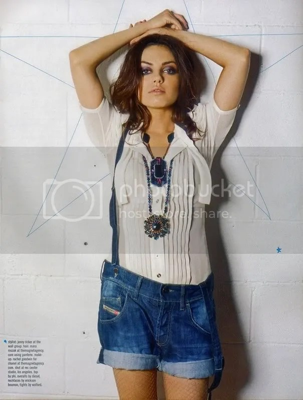 Mila Kunis in Nylon magazine Fall 2008