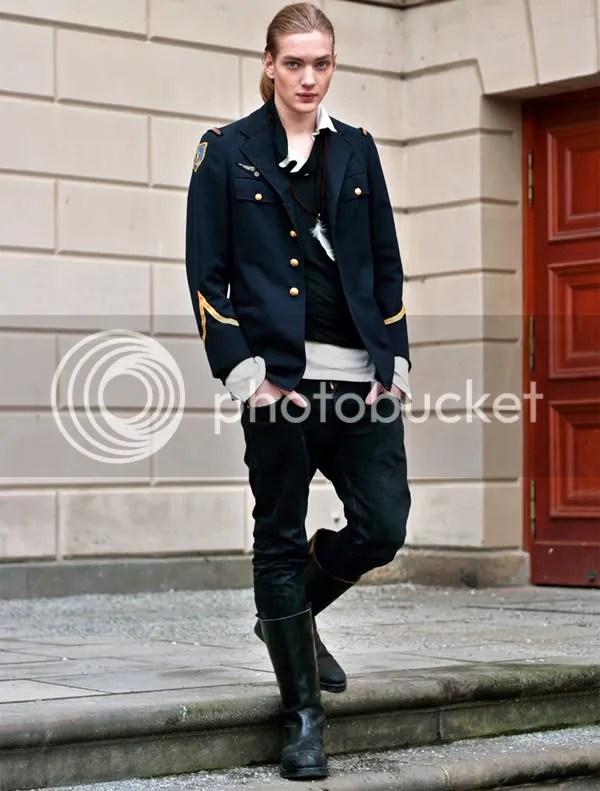 Military jacket street style, Berlin
