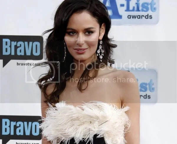 Nicole Trunfio in the feather trend