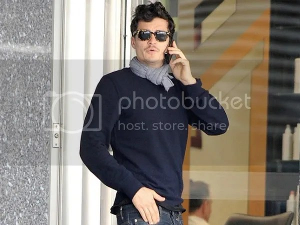 Orlando Bloom wears wayfarers, New York