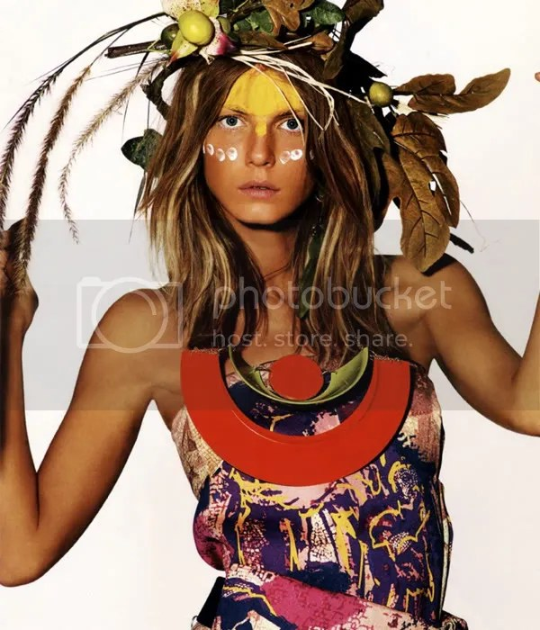 Tribal trend in Vogue UK, May 2009