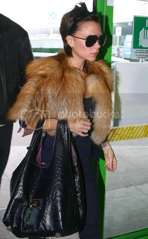 Victoria Beckham leaving Milan Fashion Week