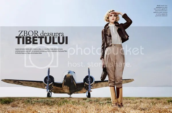 'Amelia' - Amelia Earhart inspired shoot for Marie Claire