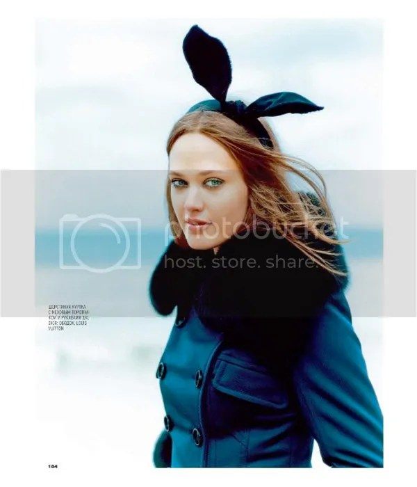 Marie Claire shoot with bunny ears
