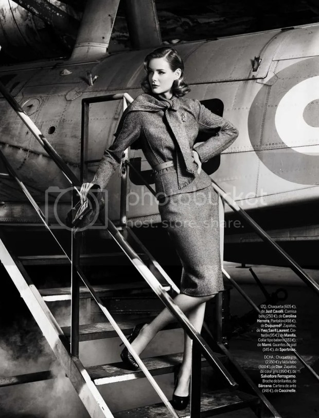 Flavia de Oliveira 'Greta Garbo' Elle September 2009