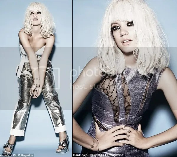 Lily Allen platinum blonde for Elle