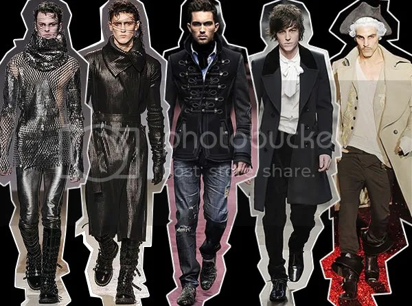 Mens Military Trend on the runway 2009-2010