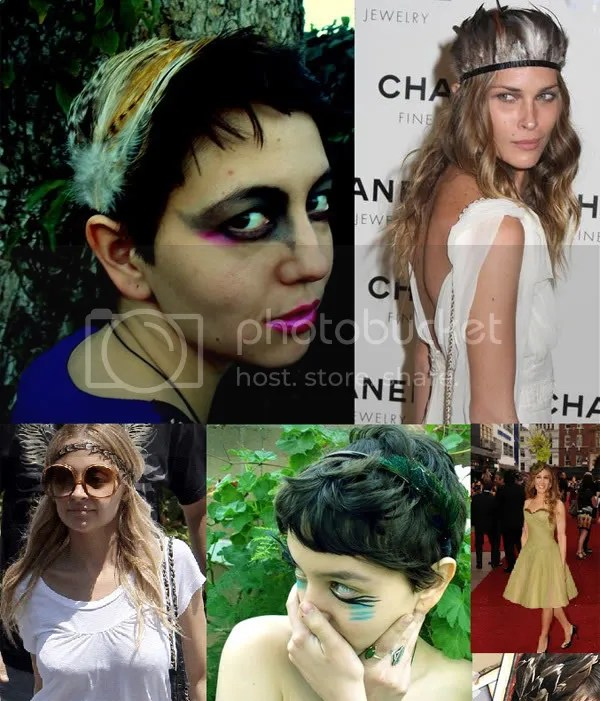 Feather headband trend 2009