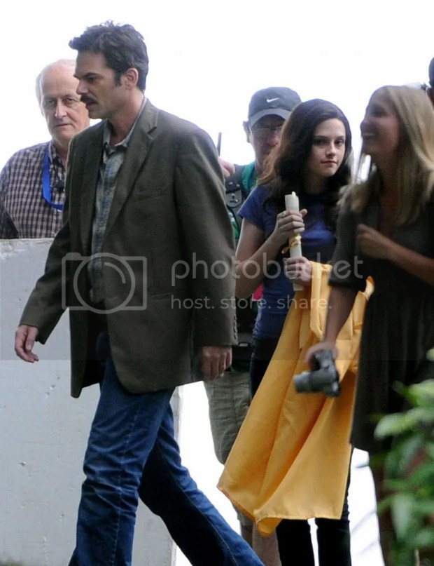 Kristen Stewart on the set of Twilight: Eclipse