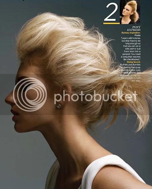 blonde pony tail