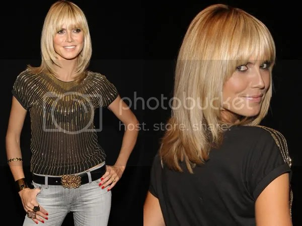 Heidi Klum wears the fringe hair trend