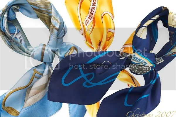 Hermes silk scarves