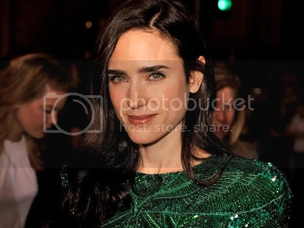 Jennifer Connelly in a Balmain minidress