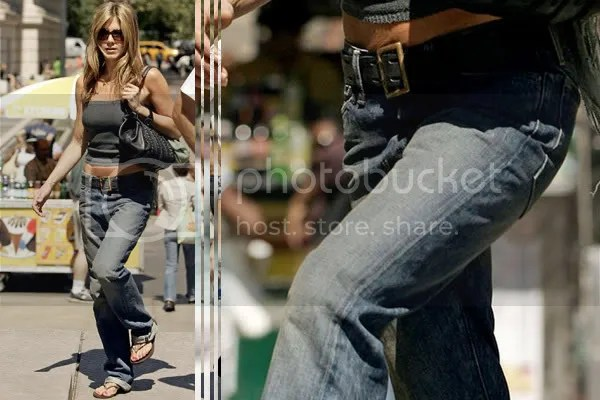 Jennifer Aniston in boyfriend jeans fashion trend
