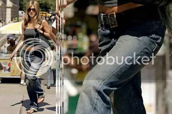 Jennifer Aniston in boyfriend jeans fashion trend