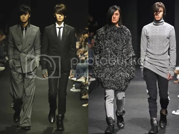 Menwear on the runway in Korea