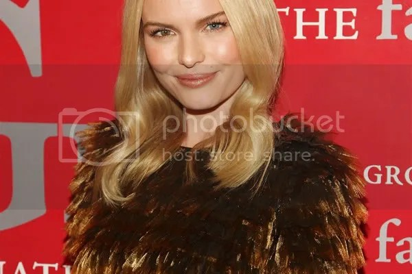 Kate Bosworth wears the feather trend with a Burberry Prorsum Dress
