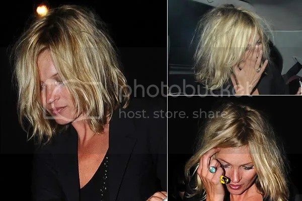 Kate Moss bob bed hair style
