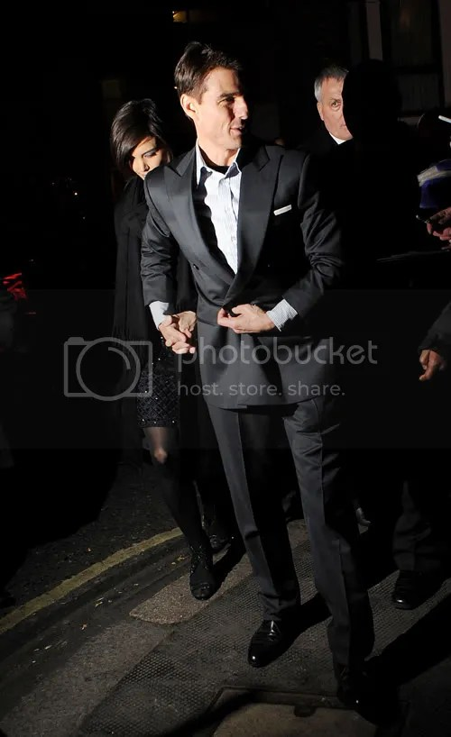 Tom Cruise and Katie Holmes at British Valkyrie premiere