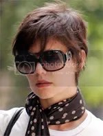 Katie Holmes short pixie crop hair style