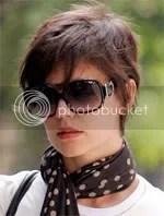 Katie Holmes short pixie crop hair style
