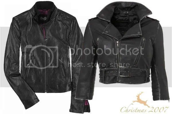 Leather jackets from D&G and Topshop