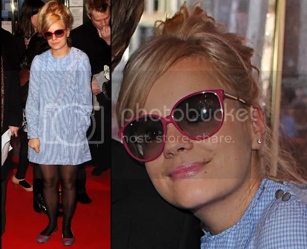 Lily Allen with blonde hair