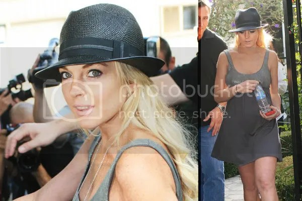 Lindsay Lohan wears the hat trend