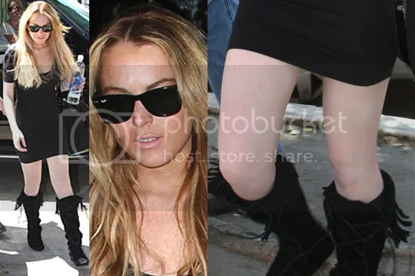 Lindsay Lohan white stockings?