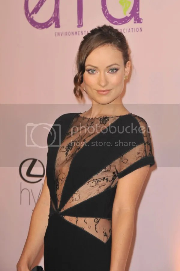 Olivia Wilde wears the Sheer and Cutaway trend