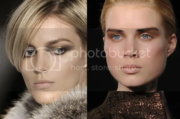 Shimmering bronze eye-shadow make-up trend
