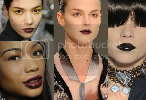 2008 dark red and black lipstick trend